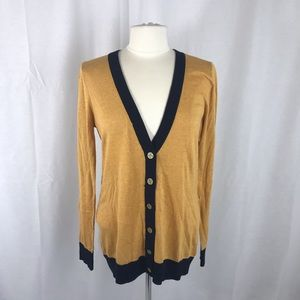 The Limited Mustard Yellow L Button Cardigan
